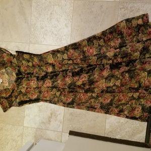 new york studio Dresses - NY Studio vintage floral sheet button front dress